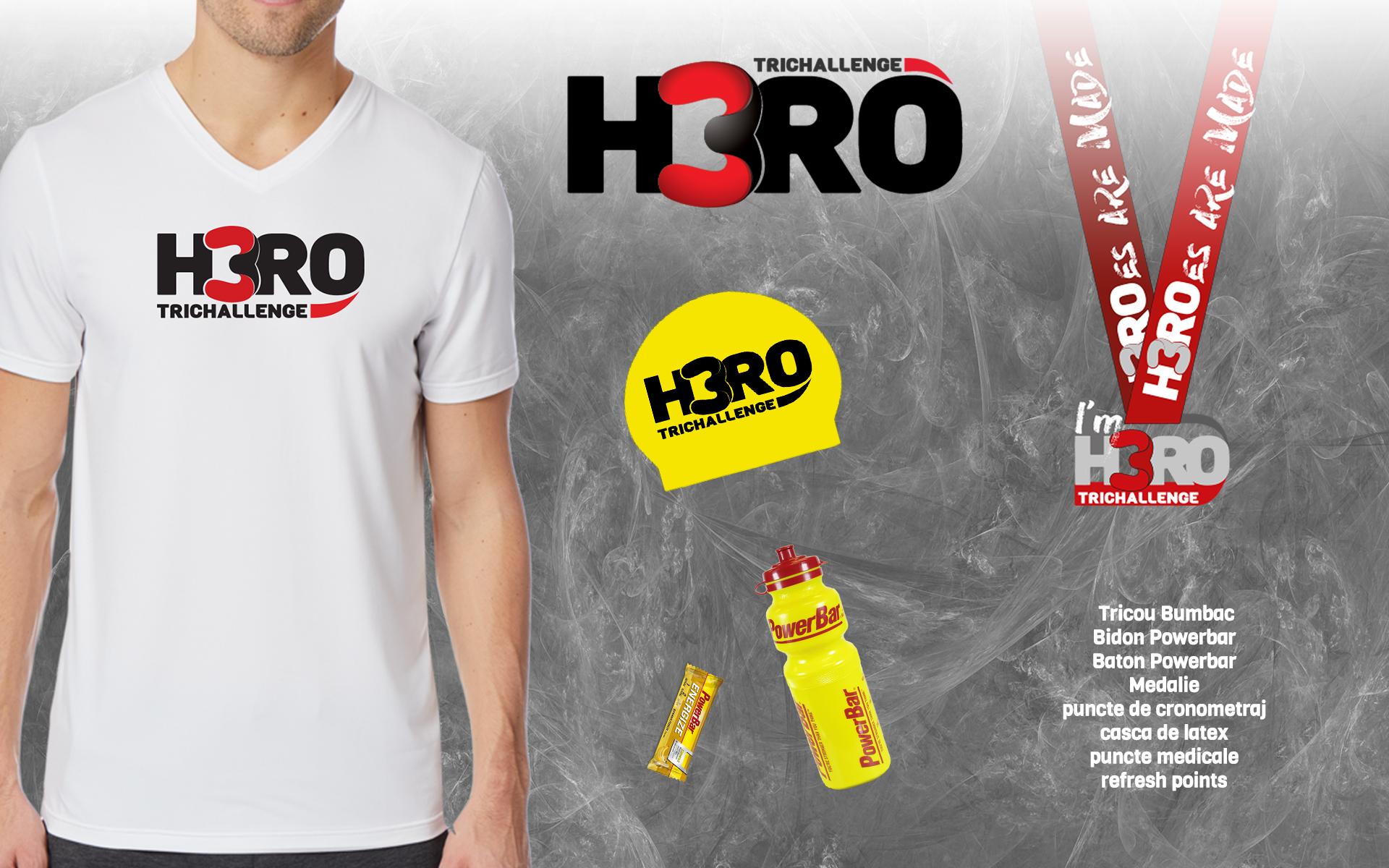 H3RO by TriChallenge 2019 - kit participare Aquatlon