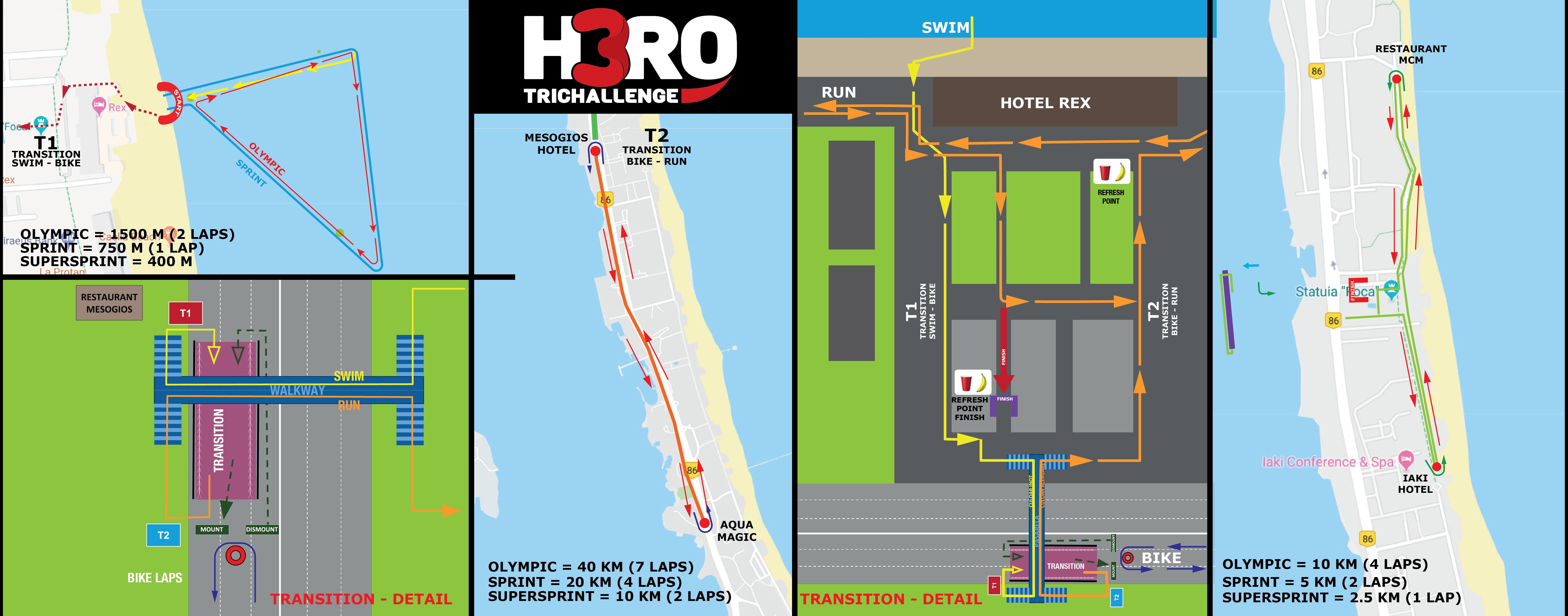 H3RO by TriChallenge 2019 - hartă concurs proba olimpică